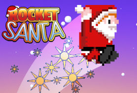 Graphic for Rocket Santa